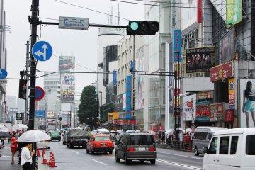 <p>The view of Meiji Dori &nbsp;</p>