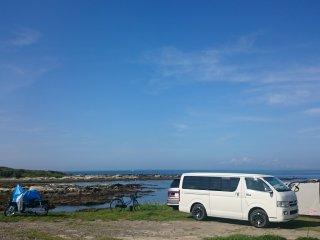 Beautiful view of Chiba's coast