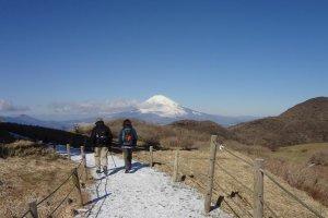 駒ヶ岳山頂から神山へのハイキングコース