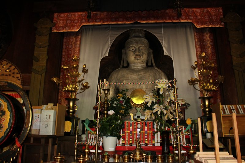 <p>The Nyoirin Kannon Bosatsu (Wish Granting Buddha) of Okadera. It&#39;s made of clay and is nearly 1300 years old (the oldest clay Buddha in Japan). The face and body of the Buddha is sculpted to show a Buddha of Indian origin indicating where the practices and influences of the artists and Okadera were sourced.</p>