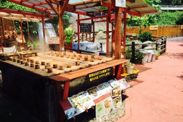 <p>Enjoy some treats cooked from this natural hot spring.</p>
