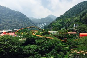 A roller coaster in the mountains!