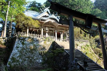 <p>The main hall of Tamaki Shrine</p>