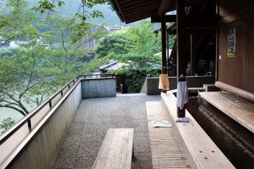 <p>On the deck of Iori no Yu</p>