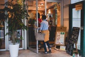 A warm and inviting entrance to Bondi Café