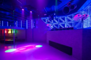 Dance floor and DJ Booth