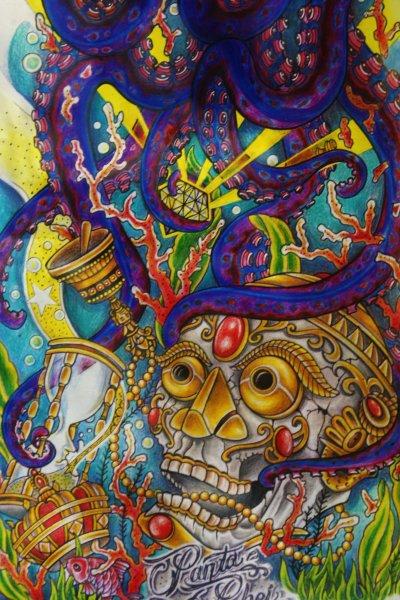 La méduse et le crâne heureux