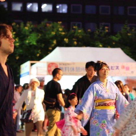 Thưởng thức vũ điệu múa vòng tròn Hokkaido