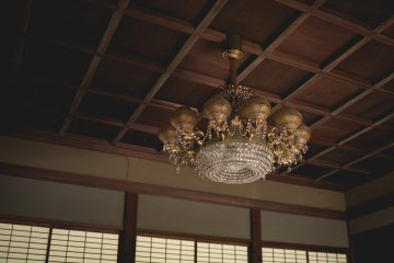 <p>Original chandelier in the old guest house</p>