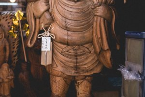 Dai Ko Kuten - carved by the shopkeepers great great great grandfather