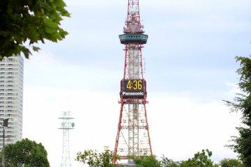 <p>Sapporo TV Tower from Odori Park</p>