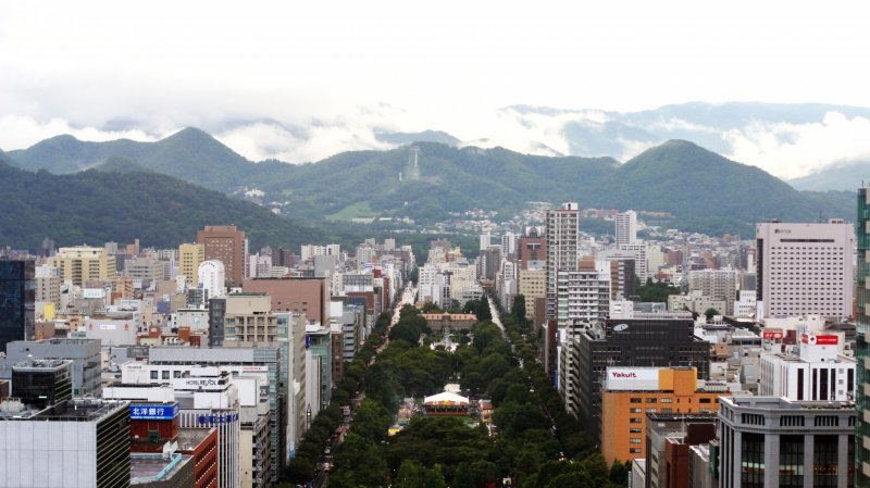 <p>The huge Odori Park, cityscape and mountain in one frame picture are great.</p>