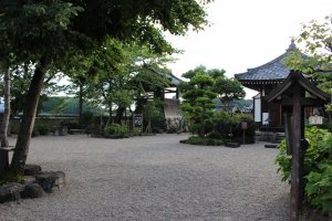 The yard of Asuka Temple