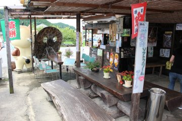 <p>The window that serves yakitori</p>