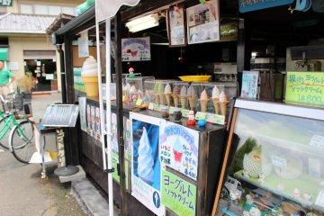 <p>Log House&#39;s ice cream counter</p>
