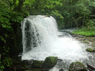 The Choshi Waterfall near the Lake Towada end of the stream