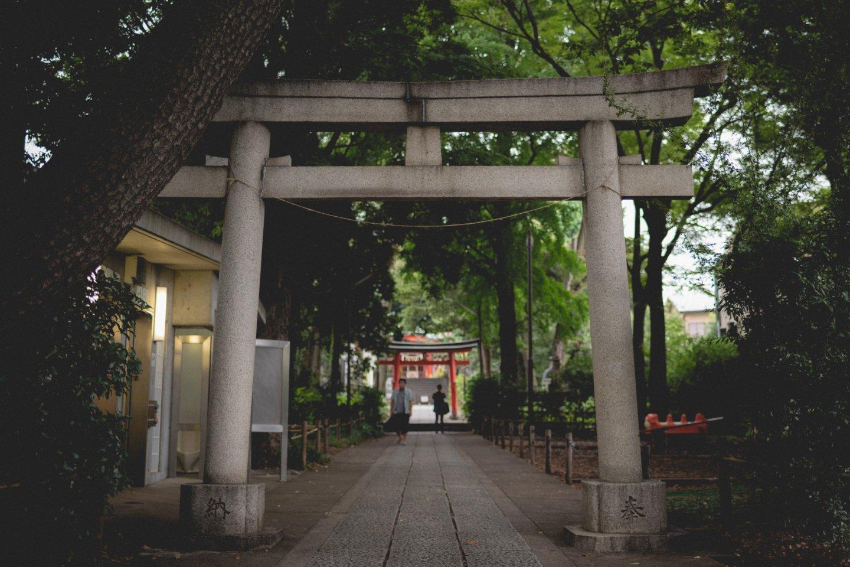Kumano Shrine's entrance, Jiyugakoa