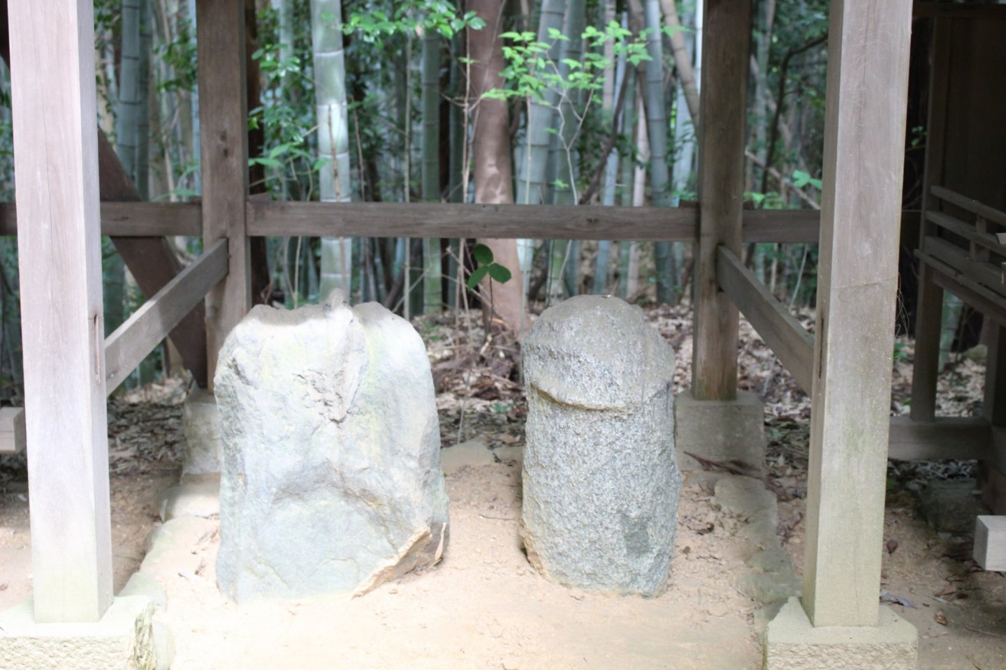 One of the biggest sets of fertility stones at Asuka Niimasu Shrine. There are a couple of... bigger ones