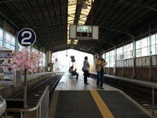 「北野白梅町駅」ホーム