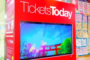 Visiting the Tickets Today kiosk