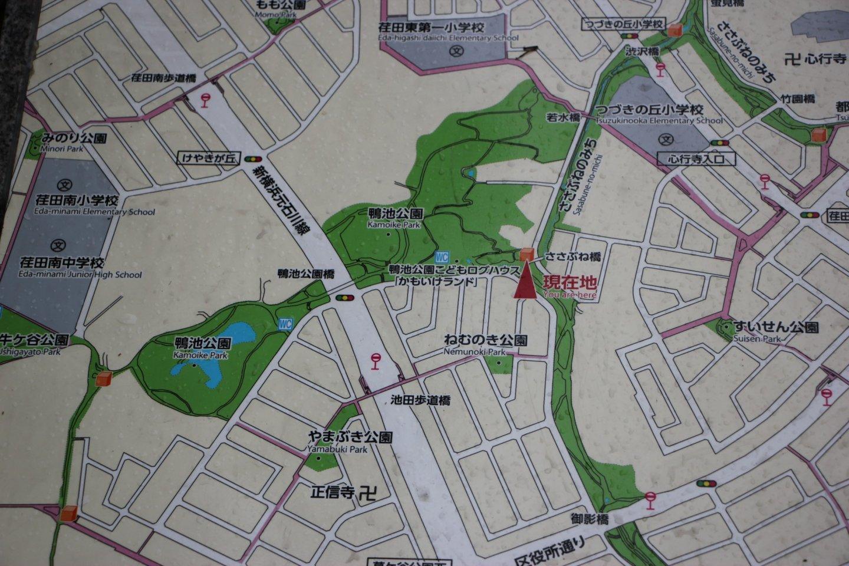 Карта расположения парка