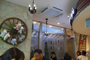 The cafe is cosy and comfortable, but has a small seating capacity