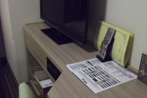 My desk and TV