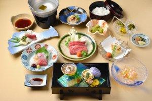 The restaurant serves up a feast for dinner.