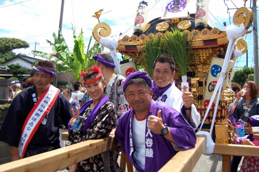 Mikoshi Shrine Festival participants