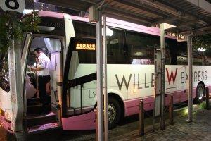Розовый автобус Willerexpress