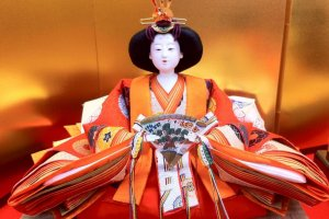 Hina Doll Detail from Ando Dolls, dollmakers to the Imperial Family