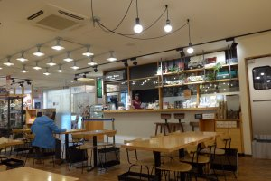 The cafe has a lot of open space, but manages to remain cosy.