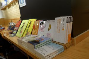 There is quite a variety of books to choose from, but you can also bring your own.