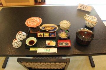 <p>The breakfast spread</p>