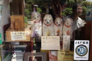 Dog-shaped amulets