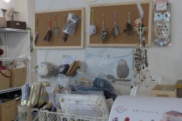 <p>They have a little section selling owl-related toys and trinkets.&nbsp;</p>