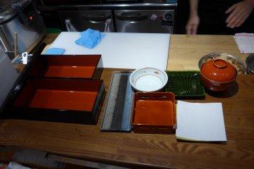 <p>The tools for the shokado bento.</p>