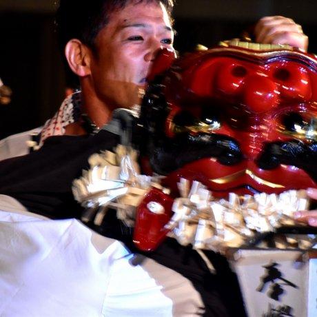 Lion Dance Festival in Echizen