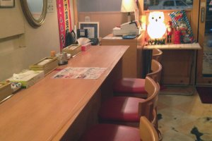 Ini interior dari Matsuda Asahikawa Ramen