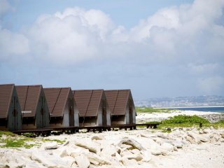 Spend the night in these rest cottages and have the whole island to yourself !
