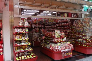 A typical souvenir shop along the main street leading into the temple.