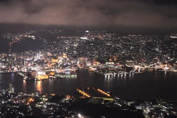 Nagasaki Night View, taken from Mount Inasa Observatory, Nagasaki City.