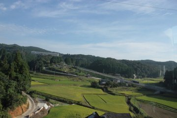Some of the rice fields surrounding Northern Kyushu, taken from the bus from Nagasaki City to Isahaya.
