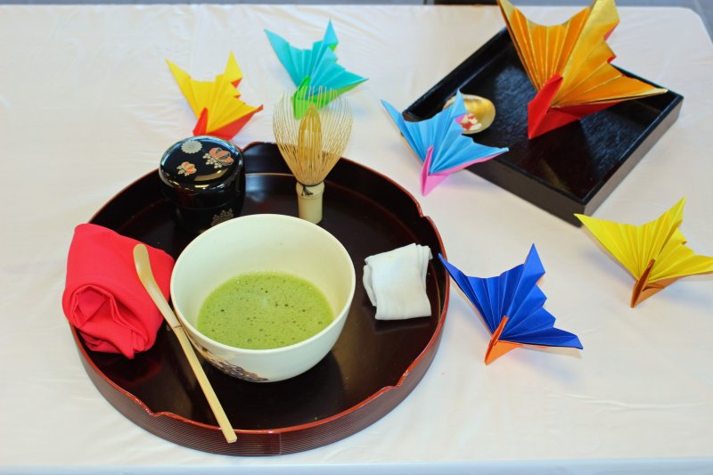 <p>The simple and beautiful tea ceremony set at the NARA Visitor Center</p>