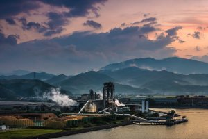 One of the very picturesque steaming industrial sites in Tokushima