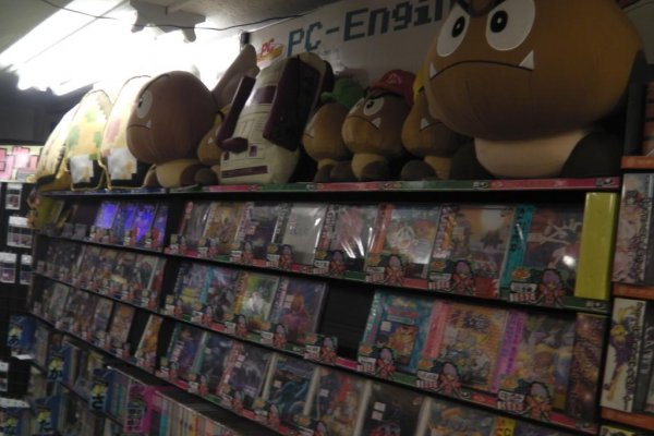Lots of vintage video game merchandise