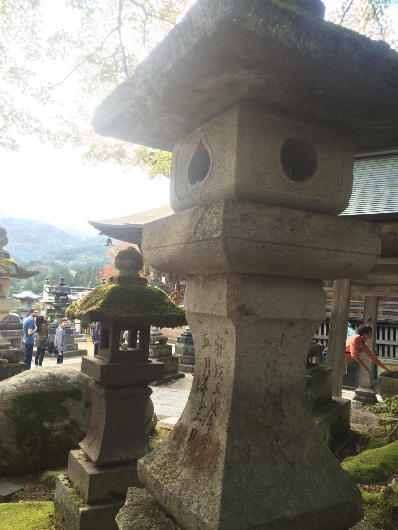 <p>Japanese traditional stone lanterns found at many temples across Japan</p>
