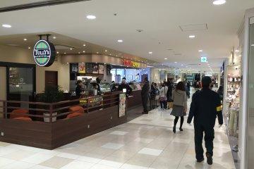 Coffee shops aplenty.