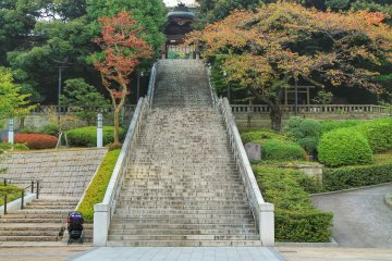 <p>At the end of the stone stairs you can see the entrance gate</p>