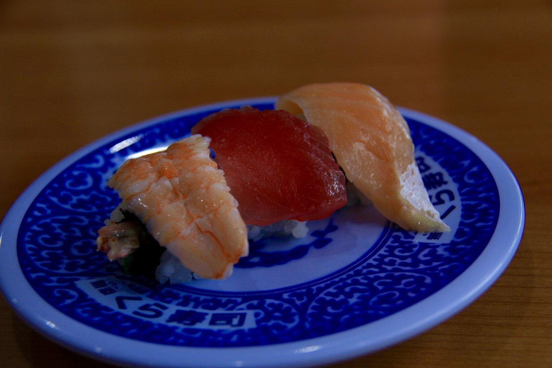 A sushi trio